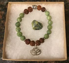 Faceted Jade and Rudraksha Seed Bracelet [Handcrafted]