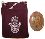 Printed Bag & Etched Gemstone (Sunstone Healing Hand)