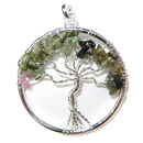 Tree of Life Pendant (Multi Fluorite)