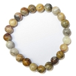 Stretchy Gemstone Bead Bracelet (Crazy Lace Agate)