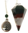 Fancy Jasper & Tree of Life Charm Pendulum