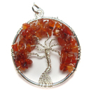 Tree of Life Pendant (Carnelian)
