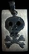 Skull with Cross Bones - Laser Cut Stainless Steel Pendant