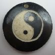 Bone Bead - Ying Yang - 29mm round