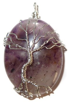 Wire Wrap Tree of Life Pendant (Amethyst)