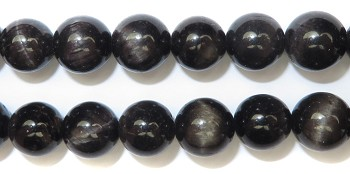Gemstone Bead Strand (Golden Black Tiger's Eye/8MM)