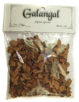 Bagged Botanicals (Galangal: Root, Cut)