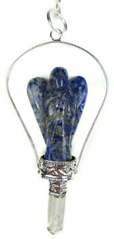 Gemstone Angel Pendulum (Lapis)
