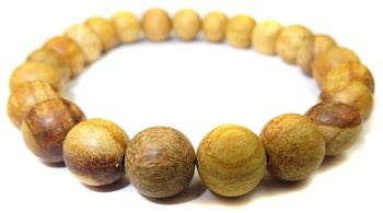 Stretchy Palo Santo Wood Bead Bracelet