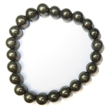 Stretchy Gemstone Bead Bracelet (Pyrite)