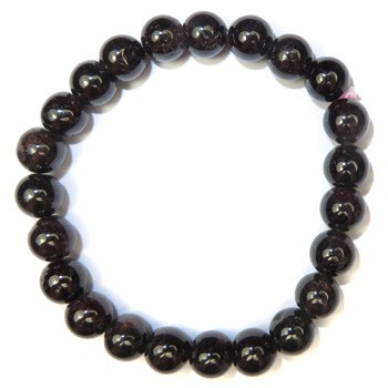 Stretchy Gemstone Bead Bracelet (Garnet)