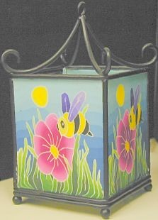 Rod Iron Fimo Tealight Holder Bee