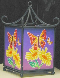 Rod Iron Fimo Tealight Holder Butterfly