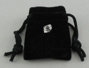 1 Herkimer Diamond in Velveteen Bag