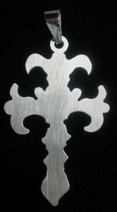 Cross #3 - Laser Cut Stainless Steel Pendant