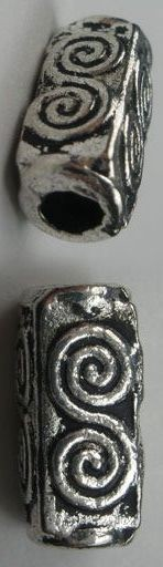 Pewter 10 x 5mm Beads - 10 Pieces