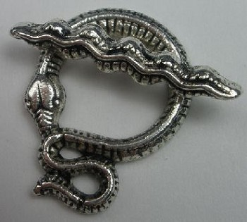 Pewter Snake Toggle - 2 Pairs